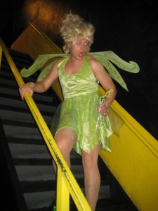 tinkerbell on the stairs Halloween 2009